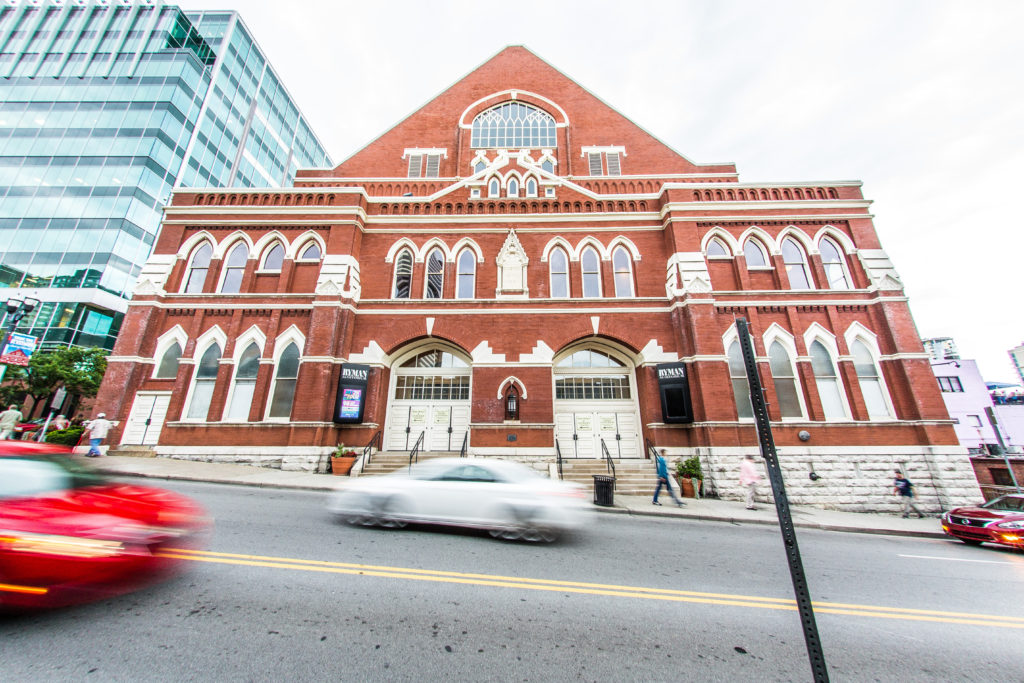 "Built in the early 1890s as a tabernacle, the Ryman Auditorium became known more than 50 years later as ""the Mother Church of Country Music."""